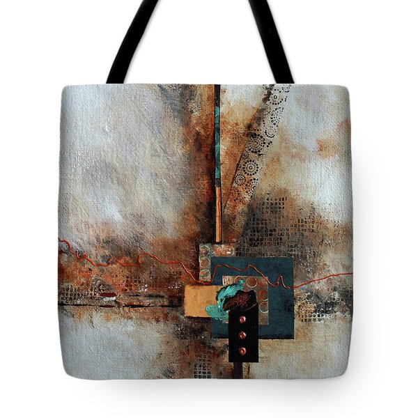 Tote Bag featuring the painting Abstract With Stud Edge by Joanne Smoley