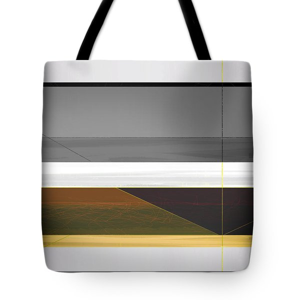 Abstract Yellow And Grey  Tote Bag