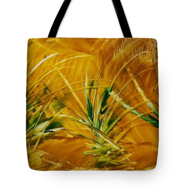 Abstract Yellow, Green Fields   Tote Bag