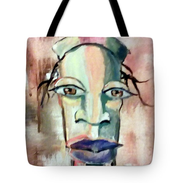 Tote Bag featuring the painting Abstract Young Man #2 by Raymond Doward