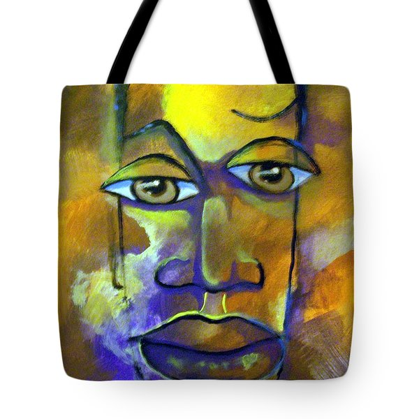 Tote Bag featuring the painting Abstract Young Man by Raymond Doward