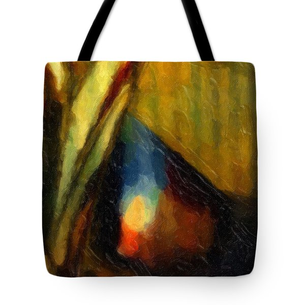 Tote Bag featuring the painting Abstract1001 by Gerlinde Keating - Galleria GK Keating Associates Inc