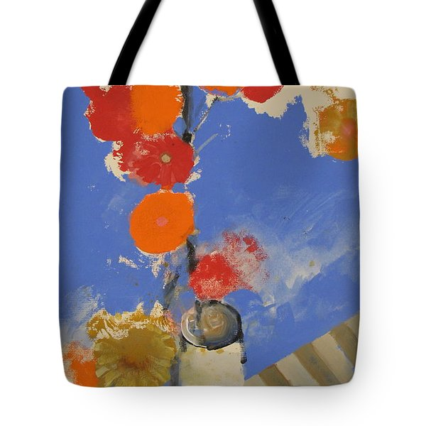 Abstracted Flowers In Ceramic Vase  Tote Bag