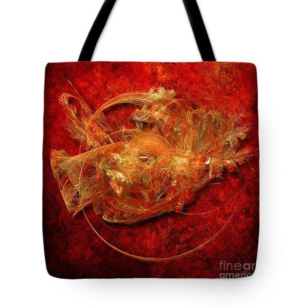 Tote Bag featuring the digital art Abstractfantasy No. 1 by Alexa Szlavics
