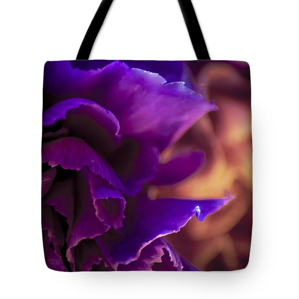 Abstracting The Flowers Tote Bag by Karen Musick