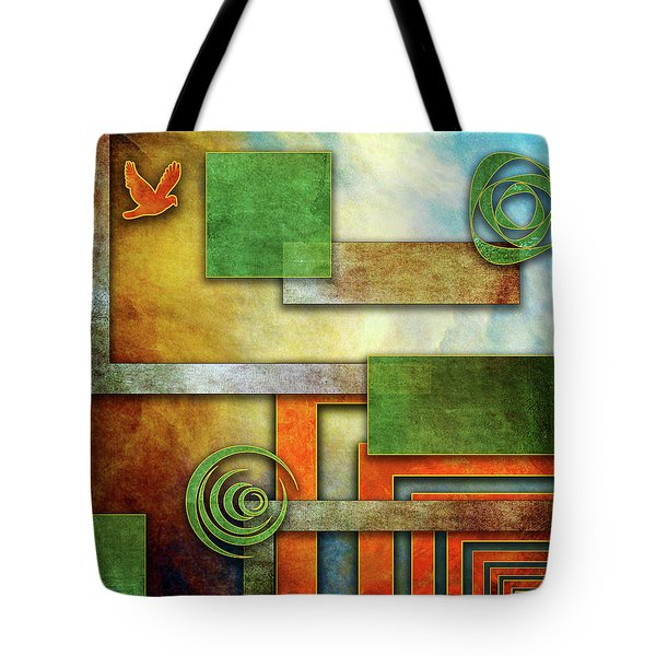 Tote Bag featuring the digital art Abstraction 2 by Chuck Staley