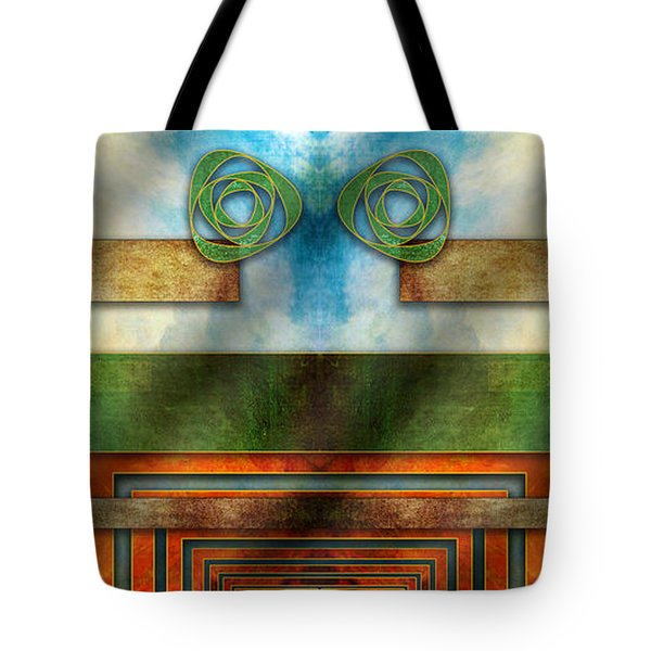 Tote Bag featuring the digital art Abstraction 2 Mirrored by Chuck Staley