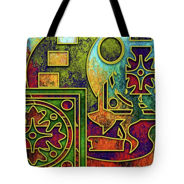Tote Bag featuring the digital art Abstraction 3 by Chuck Staley