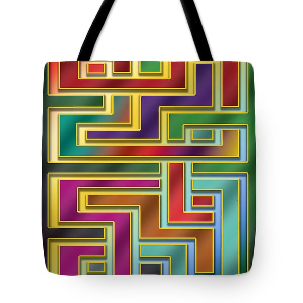 Tote Bag featuring the digital art Abstraction 4 by Chuck Staley