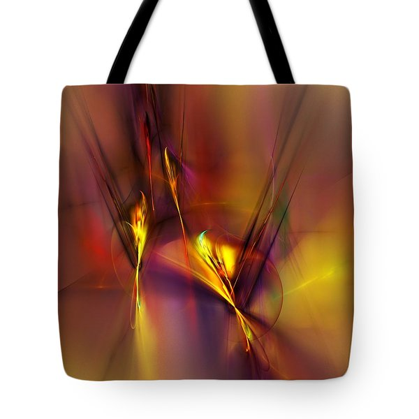 Abstracts Gold And Red 060512 Tote Bag