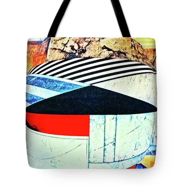 Abstracts On Red Tote Bag by Bruce Iorio