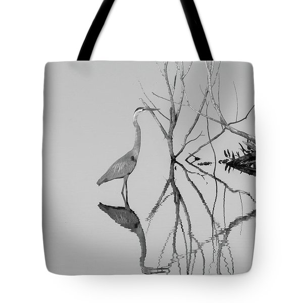 Abstracts On The Lake Tote Bag by Carolyn Dalessandro