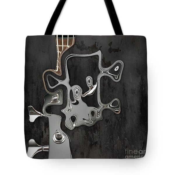 Tote Bag featuring the digital art Abstrait En Sol Majeur  by Variance Collections