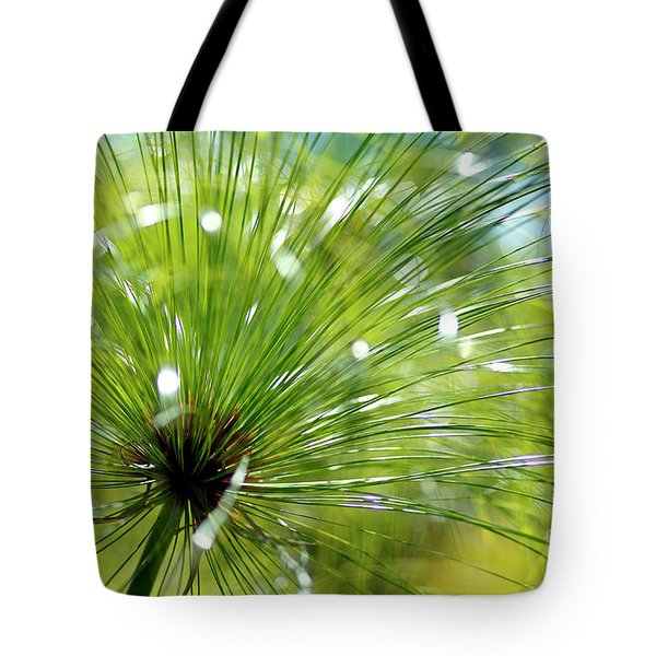 Abstrct Grass Tote Bag by Nicholas Burningham