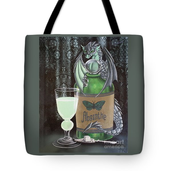 Absinthe Dragon Tote Bag