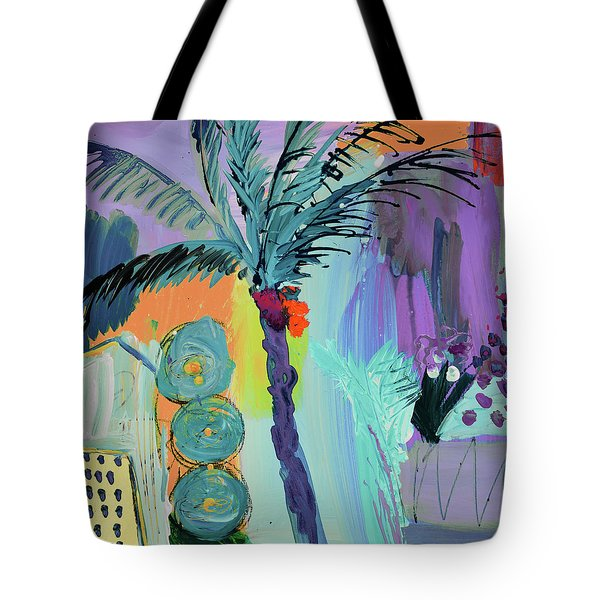 Abtract, Landscape With Palm Tree In California Tote Bag