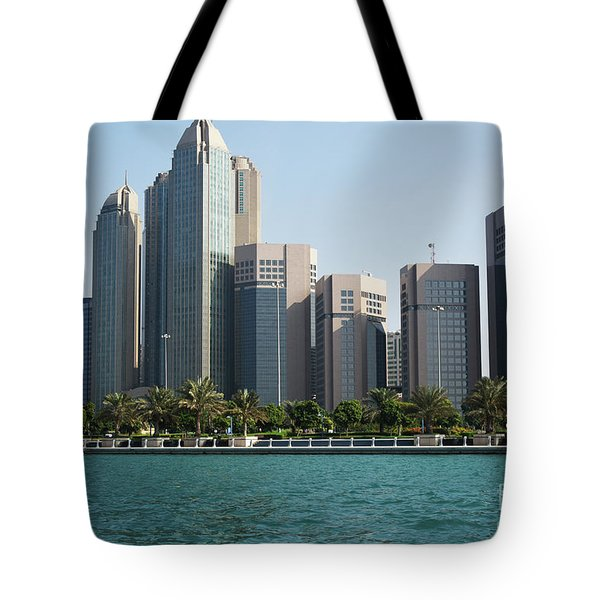 Tote Bag featuring the photograph Abu Dhabi by Hanza Turgul