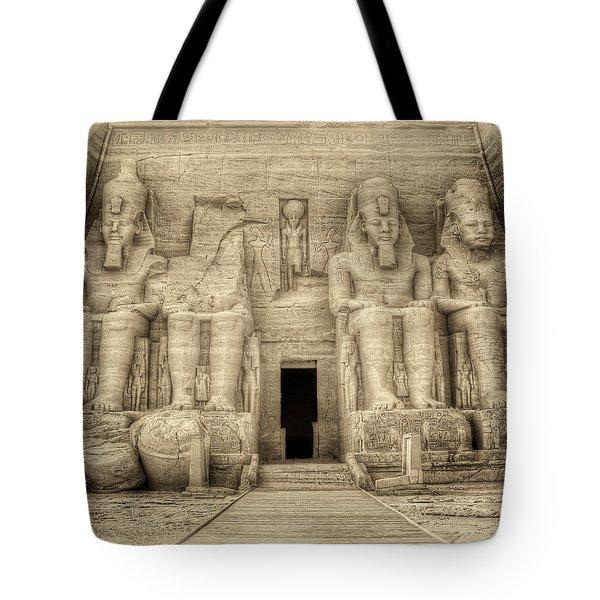 Abu Simbel Antiqued Tote Bag