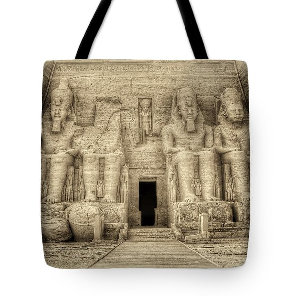 Abu Simbel Antiqued Tote Bag