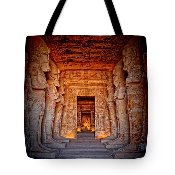 Abu Simbel Great Temple Tote Bag