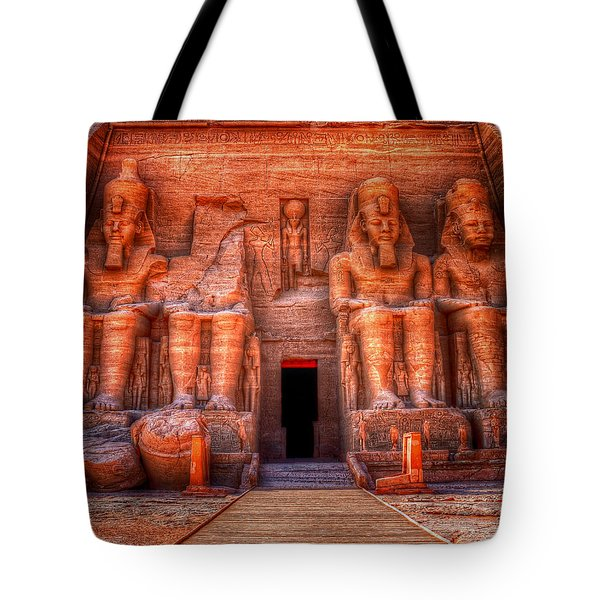 Tote Bag featuring the photograph Abu Simbel by Nigel Fletcher-Jones