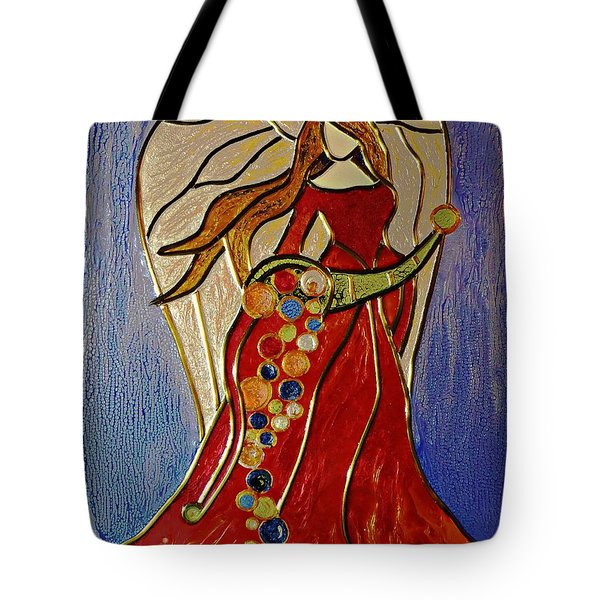 Tote Bag featuring the mixed media Abundance Angel by AmaS Art