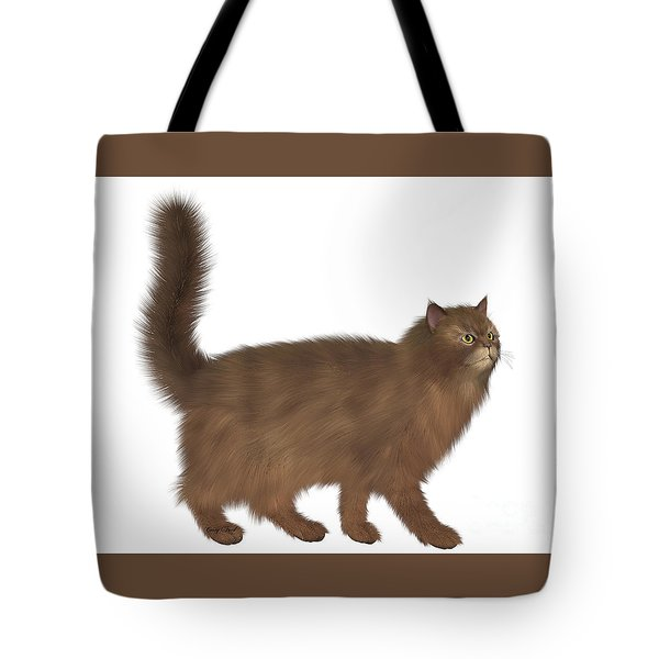 Abyssinian Cat Tote Bag by Corey Ford