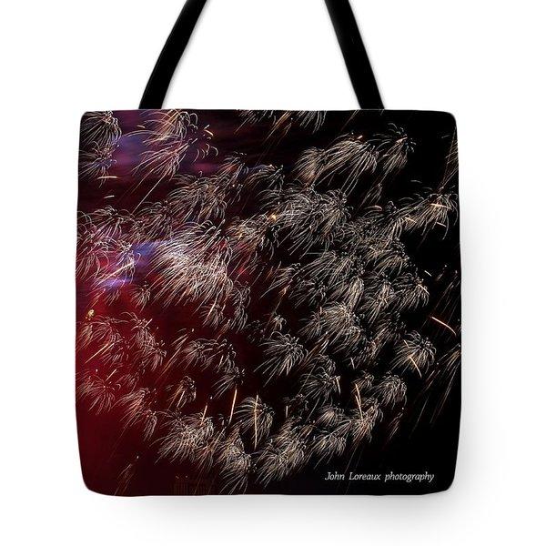 Ac Fireworks 2 Tote Bag by John Loreaux