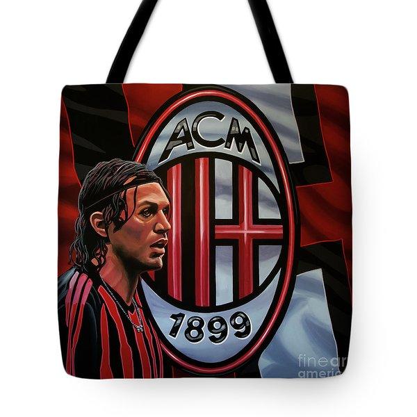 Ac Milan Painting Tote Bag