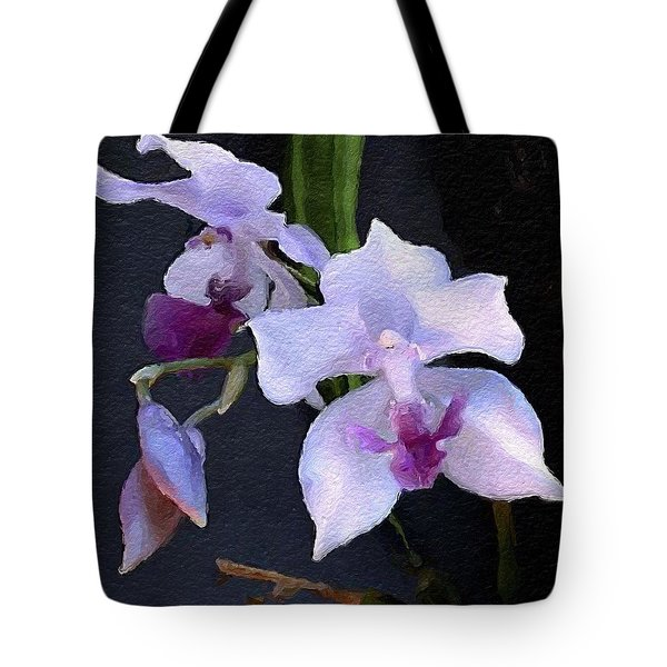 Acacallis Cyanea. Orchid Tote Bag by Anthony Fishburne