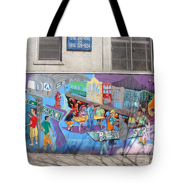 Academy Street Mural Tote Bag by Cole Thompson