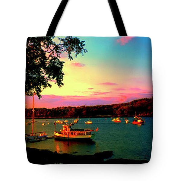 Tote Bag featuring the photograph  Acadia Bar Harbor Sunset Cruises by Tom Jelen