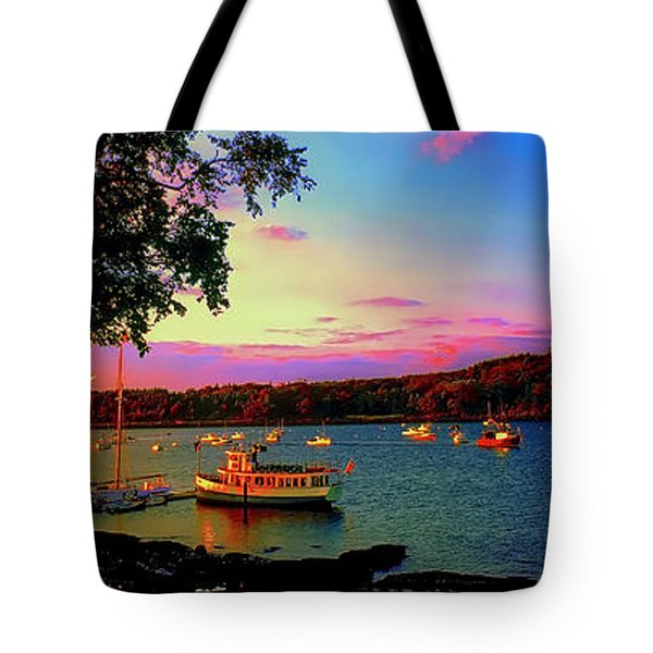 Acadia Bar Harbor Sunset Cruises.tif Tote Bag