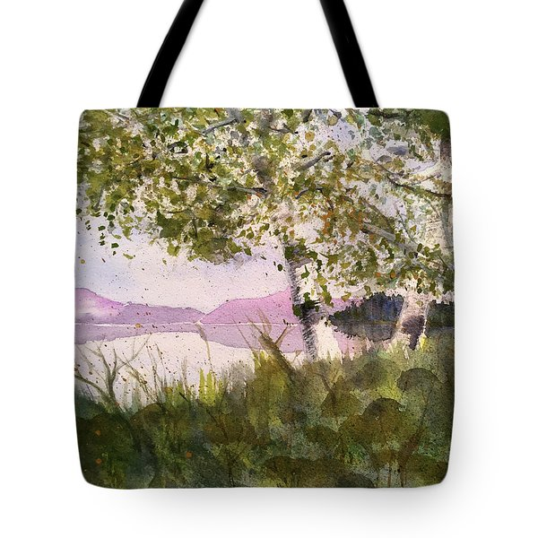 Acadia Morning Tote Bag by Maura Satchell