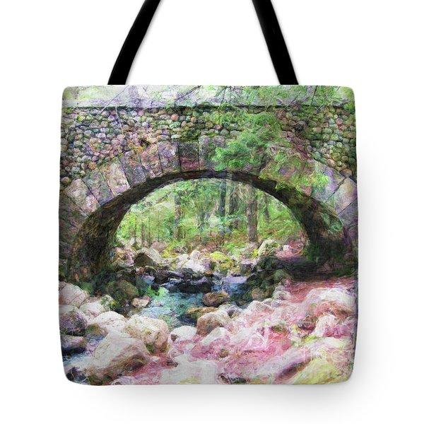 Acadia National Park - Cobblestone Bridge Abstract Tote Bag