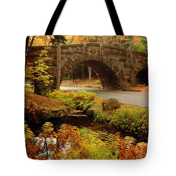 Acadia Stone Bridge Tote Bag by Alana Ranney
