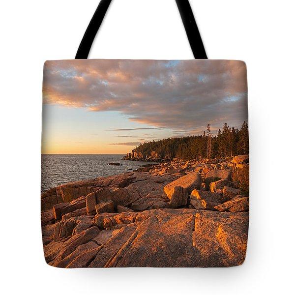 Acadia Sunrise Tote Bag by Sharon Seaward