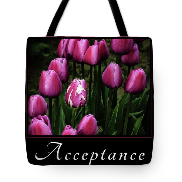 Tote Bag featuring the photograph Acceptance by Mary Jo Allen