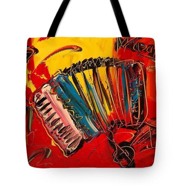 Accordeon Tote Bag by Mark Kazav