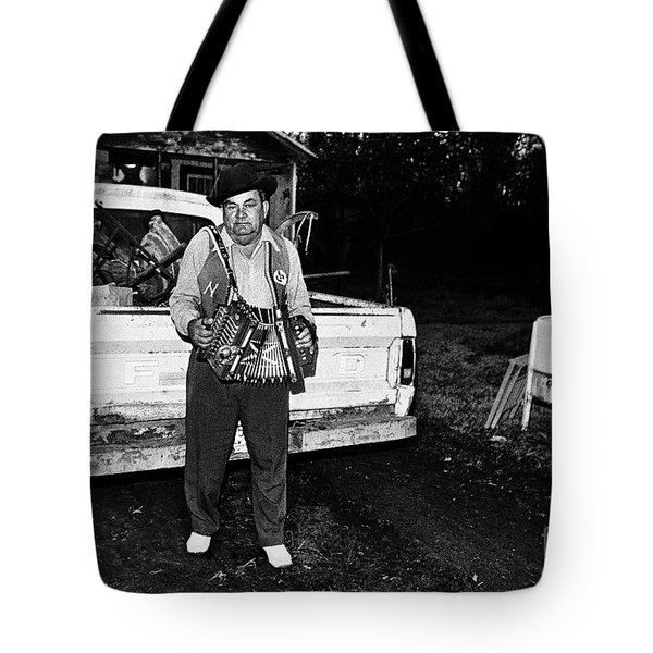 Accordion Scrapper Man  Tote Bag by Peter Gumaer Ogden