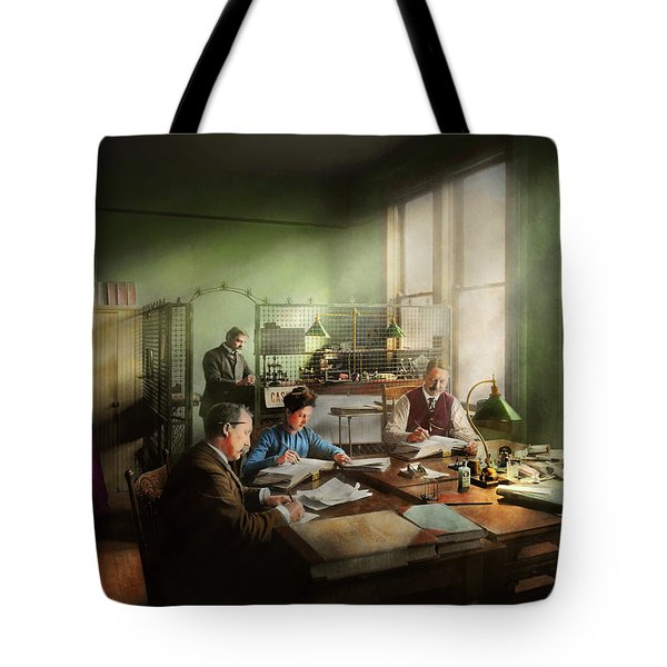 Tote Bag featuring the photograph Accountant - The- Bookkeeping Dept 1902 by Mike Savad