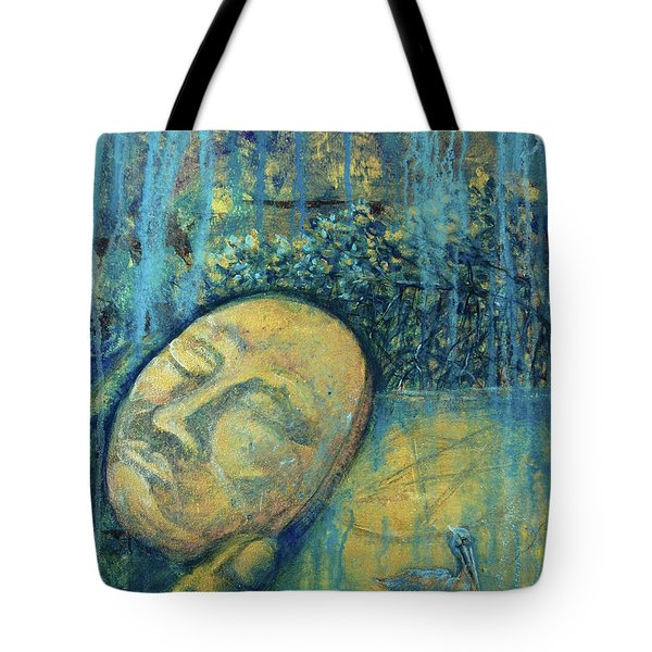 Tote Bag featuring the painting Ace Of Coins by Ashley Kujan