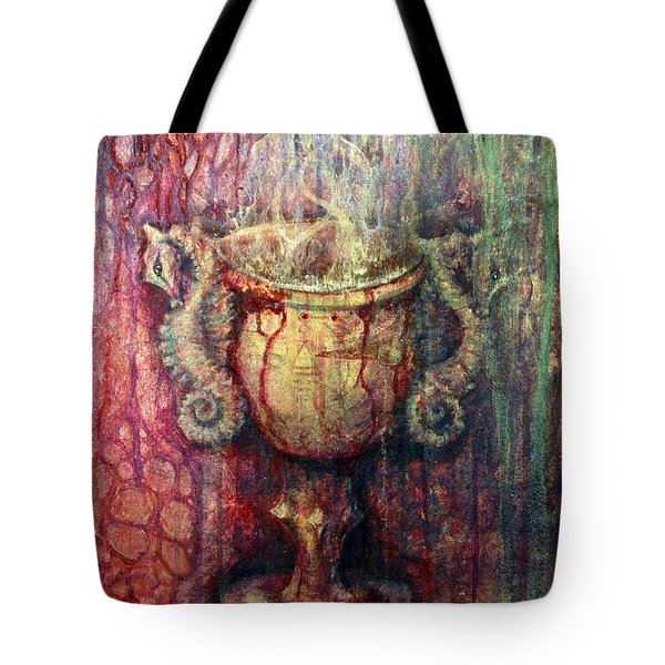 Tote Bag featuring the painting Ace Of Cups by Ashley Kujan