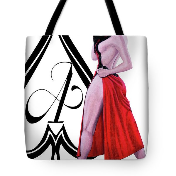 Tote Bag featuring the digital art Ace Of Spades 2 by Joseph Ogle