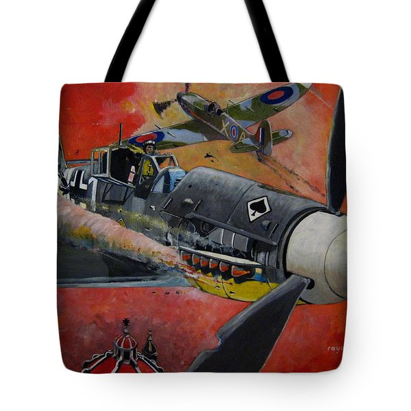 Ace Of Spades Tote Bag by Ray Agius