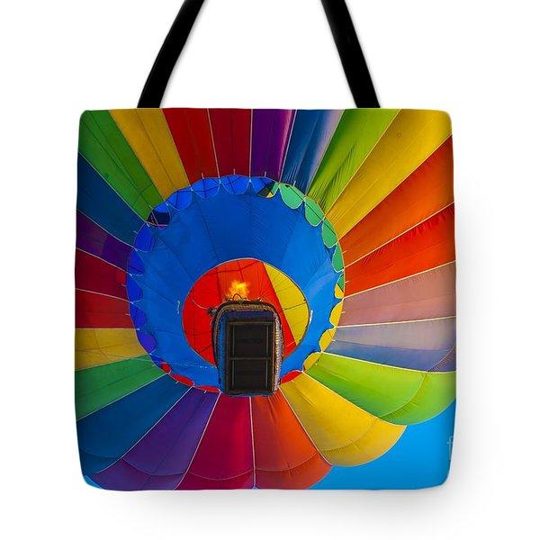 Ascending Hot Air Balloon Tote Bag