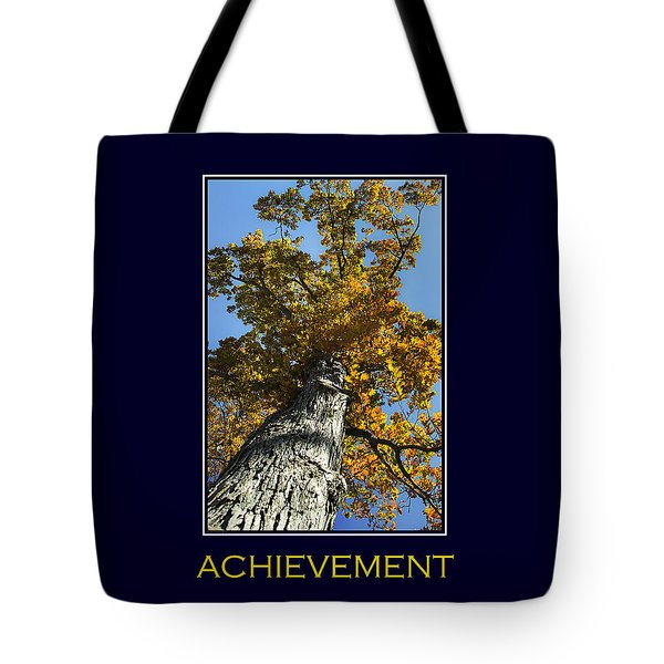 Achievement Inspirational Poster Art Tote Bag by Christina Rollo