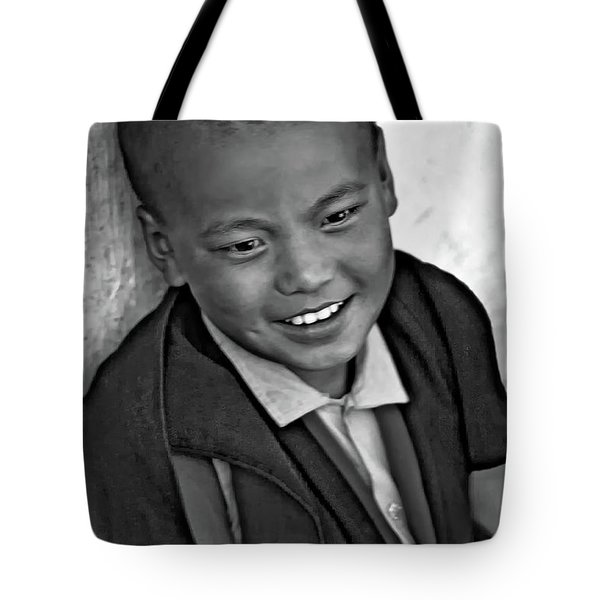 6687aa8679596 Achieving Joy - A Leonard Cohen Quote Bw Tote Bag