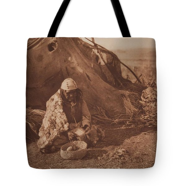 Achomawi Basket-maker Ca 1923 , Native American By Edward Sheriff Curtis, 1868 - 1952 Tote Bag