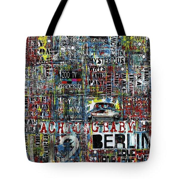 Achtung Baby Tote Bag by Frank Van Meurs